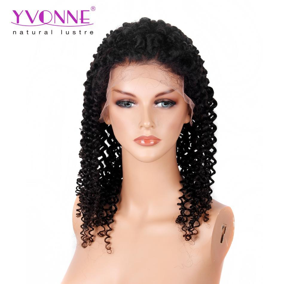 250% Density Yvonne Kinky Curly Lace Front Human Hair Wigs For ...