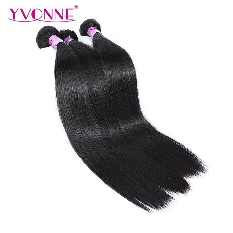 Yvonne 9a Cuticle Aligned Hair3 Bundles Straight Virgin Hair100