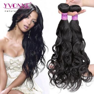 Grade 5A 100% Brazilian Natural Wave Virgin Hair Weave 1B Color
