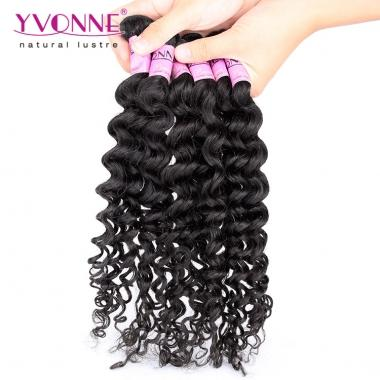 Yvonne Hair Sample Deep Wave Virgin Hair Weaving,Natural Color 12inch 12g/bundle