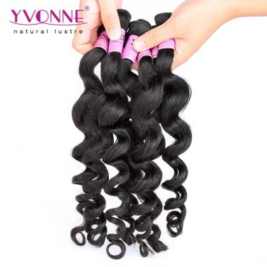 100% Virgin Human Hair Sample,Yvonne Loose Wave 1B Color 12inch About 12g/Bundle
