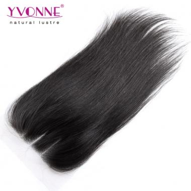 3 Part Closure Straight Brazilian/Peruvian Virgin Hair Closure,100% Human Hair Lace Closure 4x4,YVONNE Hair Products