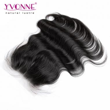 3 Part Closure Body Wave,100% Virgin Hair size 4*4 Lace Top Closure 1B Color,Yvonne Hair Products