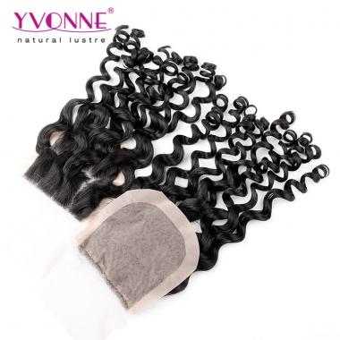 Brazilian Silk Base Closure,100% Italian Curly Virgin Human Hair Closure 4x4,10-18 Inches