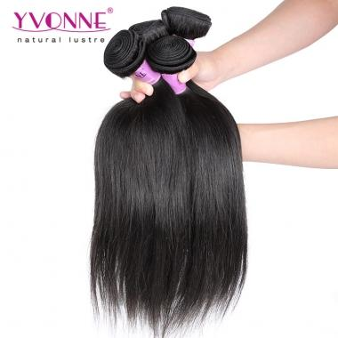 Yvonne Cambodian Human Hair Natural Straight Virgin Hair Bundles Natural Color 1 Bundle