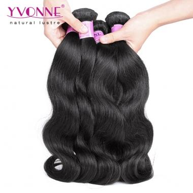 High Quality Yvonne Cambodian Virgin Hair Weave,Body Wave Human Hair Bundles 1B Color