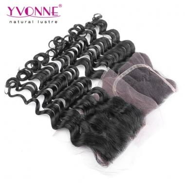Brazilian Loose Wave Virgin Hair Lace Top Closure 4x4 Natural Color