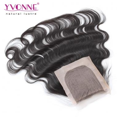 10-20 Inches Silk Base Closure Brazilian Hair Body Wave,100% Yvonne Human Hair Top Closure 4x4