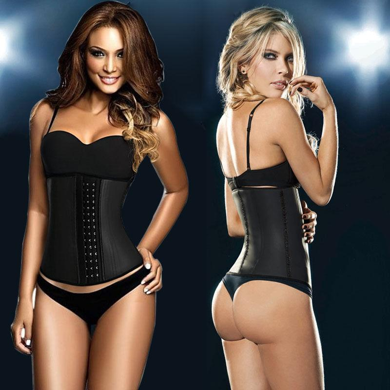 f349e862124 Waist Trainer 100% Latex Waist Cincher Corset Minceur Slimming Body Shapers  4 Steel Boned XS~4XL
