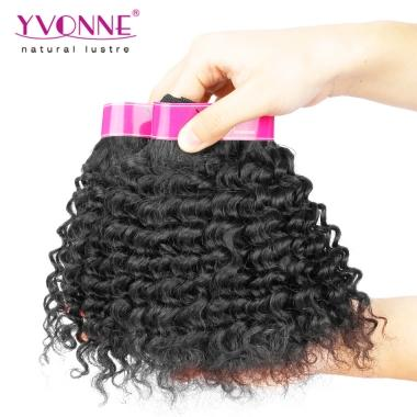 30% OFF SPECIAL DEAL YVONNE Brazilian Deep Wave Human Hair Weave 10inch 1B Color