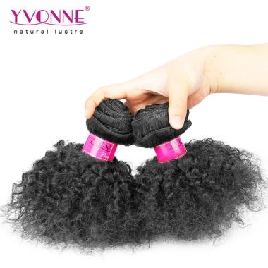 Yvonne Afro Kinky Curly Remy Human Hair Weaving