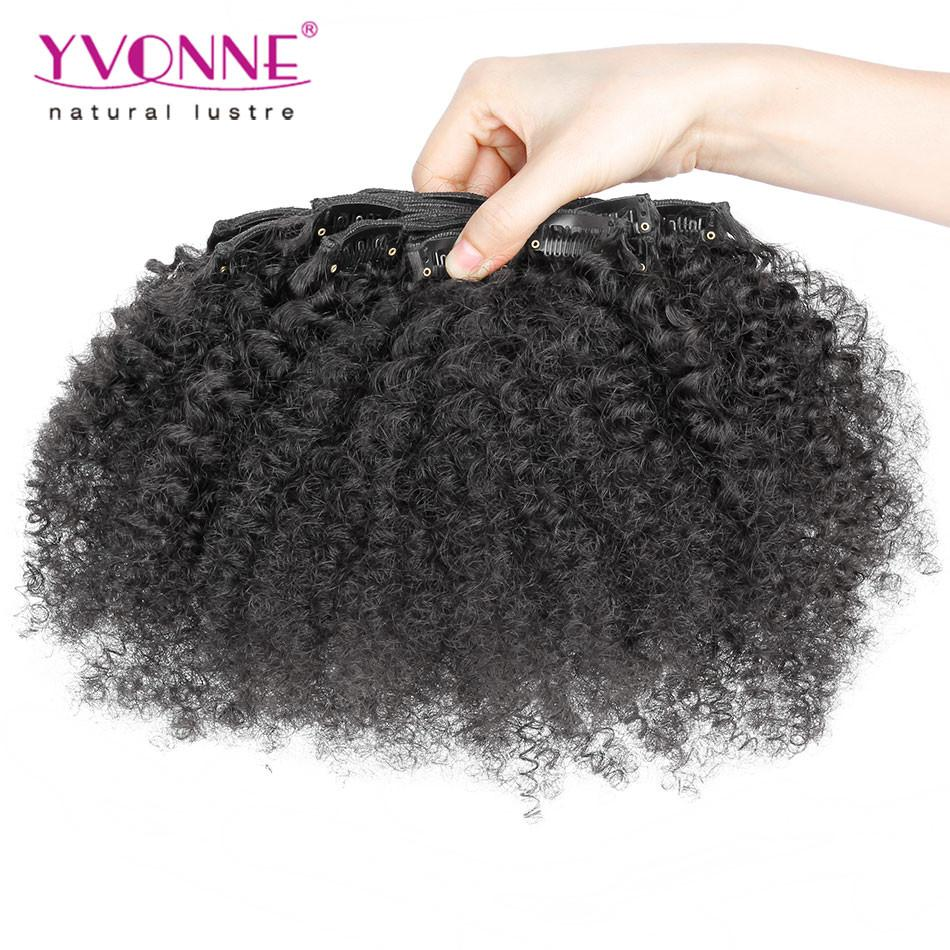 Yvonne Afro Kinky Clip In Extensions Natural Hair100 Brazilian