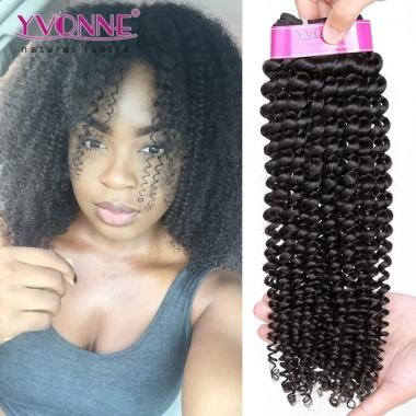HOT SALE Yvonne KInky Curl HairGrade 5A Kinky Curly Brazilian Virgin Hair,100% Human Hair Weave,12-28 Inches