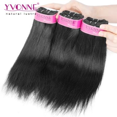 Grade 5A 100% Brazilian Natural Straight Virgin Hair Weave 1B Color
