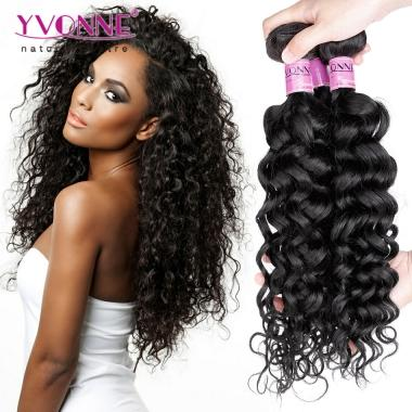 Grade 5A 100% Brazilian Italian Curl Virgin Hair Weave 1B Color