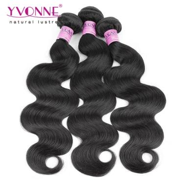 3Bundles Peruvian Hair Body wave,100% Human Hair Weave,Yvonne Body wavy Remy Hair Free Shipping Cost