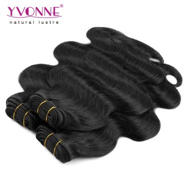 Brazilian Virgin Hair Body Wave Human Hair Weave Yvonne Hair Products Natural Black Color