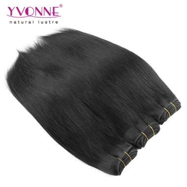 NEW Virgin Hair Weave Natural Straight Yvonne Hair Products 10inch-20inch 1B Color