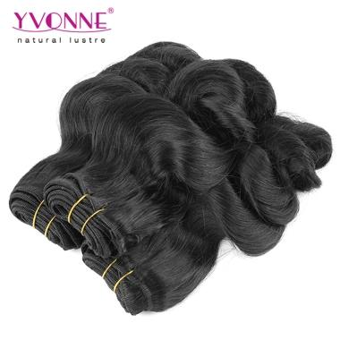 Yvonne Loose wave Virgin Cheap Hair Weaving for black women 100% Brazilian Hair 10inch-20inch 1B Color
