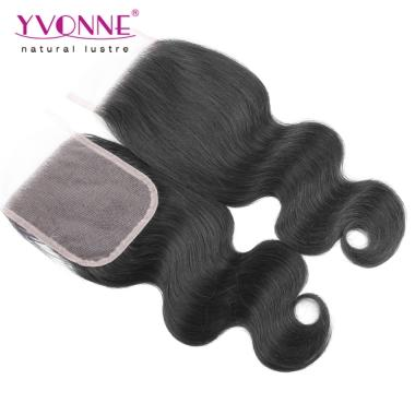 Brazilian Virgin Hair Closure Free Part Lace Closure Yvonne Hair Body Wave 4*4 Top Closure 10