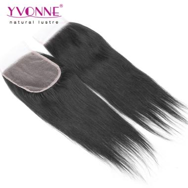 New Yvonne Hair Products Unprocessed Virgin Hair Lace Closure Straight Human Hair Top Closure Hair 4