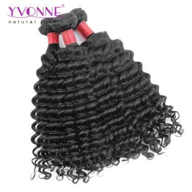 Yvonne Unprocessed 8A Hair Brazilian Deep Wave,1Pcs/lot 100% Real Human Hair Bundles Color 1B,12~28Inch Available