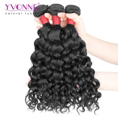 Yvonne Unprocessed 8A Brazilian Curly Hair,1Pcs/lot Italy Curl Virgin Hair Weaving Color 1B,12~28Inch Available