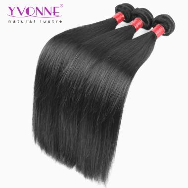 3PCS Real 8A Yvonne Natural Straight Human Hair,Premium Quality Brazilian Hair Weft,Color 1B,10~28Inch Available