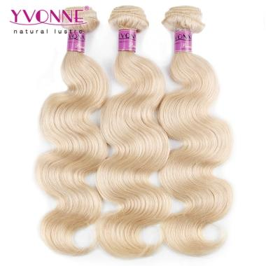 Yvonne Hair 3Pcs/Lot #613 Platinum Blonde Brazilian Virgin Hair Body Wave Hair Weaving12inch to 28inch
