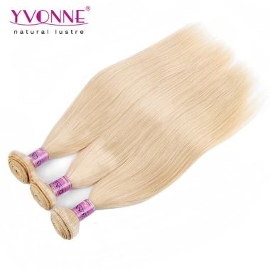YVONNE Blonde Virgin Hair 3 Bundle/lot 613 Brazilian Straight Hair Weave 100% Yvonne Human Hair Weft