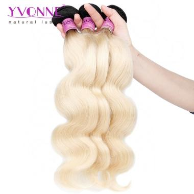 Yvonne Hair 3Pcs/Lot 1B/613 Color Best Quality Brazilian Hair Body Wave Weave 12inch to 28inch