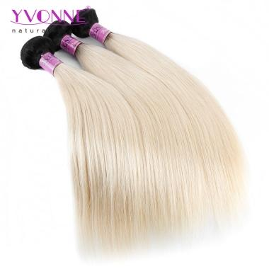 1B/613 YVONNE Brazilian Hair 3 Bundle/pack Straight Hair Weave 100% Human Hair Weft,12inch to 28inch in stock