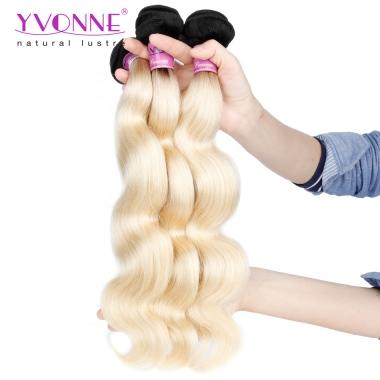New Arrival 1PCS/lot 1B/613 Blonde Virgin Human Hair Body Wavy Weave 12inch to 28inch in stock