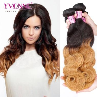 Yvonne Ombre Brazilian Hair T1B 30 Single Bundle 100g Body Wave,Ombre Hair Extensions Human Hair Weaves