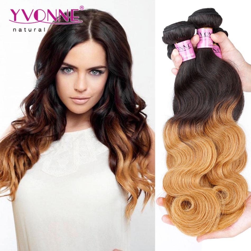 Yvonne Ombre Brazilian Hair T1b 30 Single Bundle 100g Body Wave