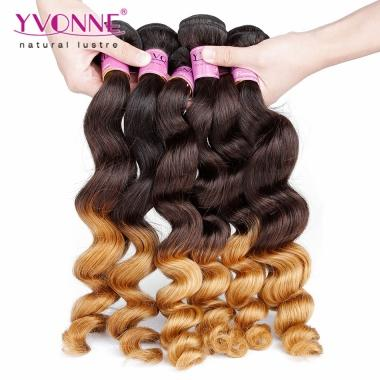 Yvonne Brazilian Loose Wave Virgin Hair T1B 30 Ombre Brazilian Hair Weave 1 Bundles 12-28inch avaliable