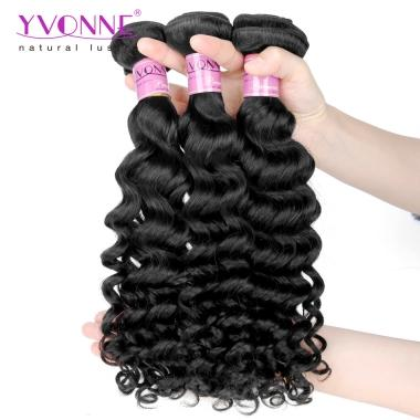 BIG SALE 3Pcs Curly Hair,Remy Human Hair Weave,Natural Color,YVONNE Deep Curly Hair Products