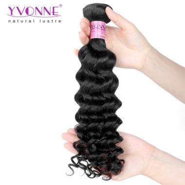 Good Quality Brazilian Deep Curly Hair,Virgin Human Hair Weave,Natural Color,YVONNE Fashion Curly Hair Products