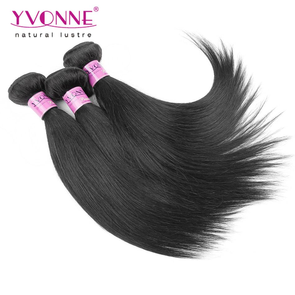 Free Shipping 3pcs Yvonne Natural Straight Brazilian Hair Weave