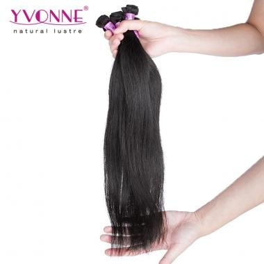 Yvonne Virgin Hair Sample,Natural Straight 12inch Natural Color and About 12g/bundle