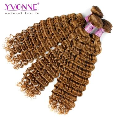 Yvonne Color Series Hair #30 Deep Wavy Hair Weft,Brazilian Human Hair 10 to 22Inches in stock