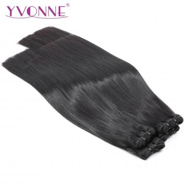 YVONNE HAIR 3 Bundles/lot Silky Straight Double Drawn Full Cuticle Aligned Hair Weaving Natural Color