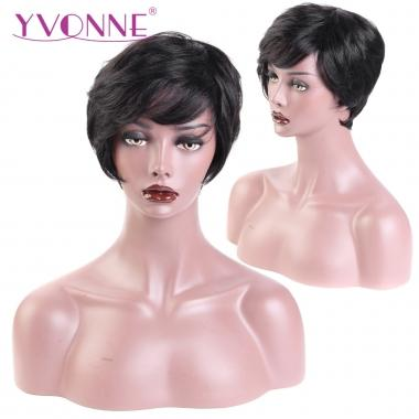 2018 YVONNE Short Pixie Cut Wigs 04 / 05 for African American Machine Made Human Hair Wigs