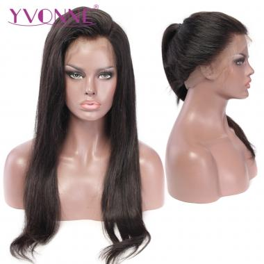 YVONNE 360 Lace Frontal Wigs 180% Density Natural Straight For Black Women Pre Plucked with Baby Hair Lace Wig