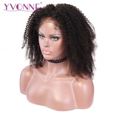 YVONNE Kinky Curly 180% Density 360 Lace Frontal Wigs For Black Women Pre Plucked Lace Wig 100% Human Hair Products