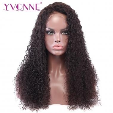 YVONNE Malaysian Curly Virgin Human Hair Lace Front Wigs For Black Women Natural Color