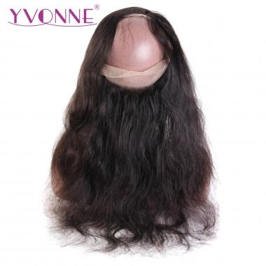 Yvonne Body Wave 360 Transparent Lace Frontal Virgin Brazilian Human Hair Natural Color 12-18inch in stock