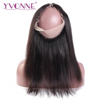 Yvonne 360 Transparent Lace Frontal Virgin Brazilian Straight Hair Natural Color 12-18inch in stock
