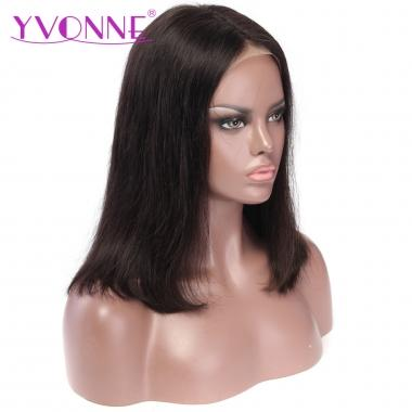 YVONNE 360 Lace Frontal BOB Wigs Brazilian Virgin Hair 180% Density Natural Color Pre Plucked Hairline with Baby Hair