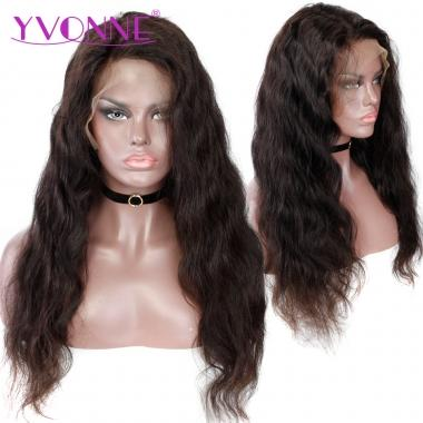 YVONNE Brazilian Virgin Hair Body Wave Full Lace Wigs Real Human Hair Natural Color